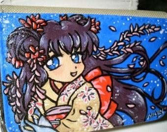 Manga girl Kimono purse, purse, Portmonaie, picture, Shojo