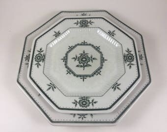 "Interpace Independence Ironstone Octogon Plates (5) - 6.5"", (5) - 8"""
