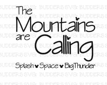 The Mountains are Calling svg, Disney Cut File, Disney SVG, Disney Shirt svg