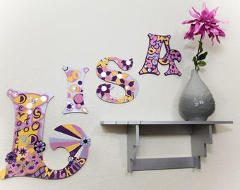 YOUnique Child Baby Room Wall Art (3 Letters) Option #1