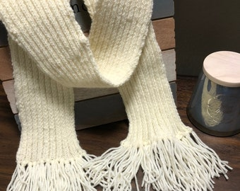 White Knitted Scarf