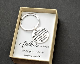 Father of the Bride Gift from daughter to daddy on wedding day Personalized custom  Father of bride keychain Father of the Bride keepsake