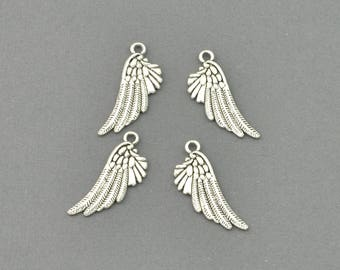 Antique Silver Tone Angels Wings_2 Charm (AS00-0032)