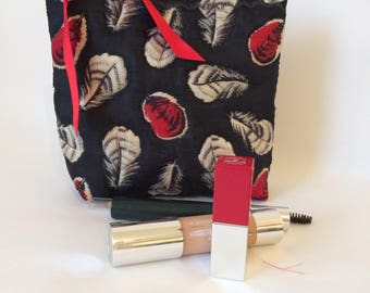 Black Silk Make Up Bag