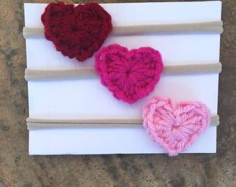 Heart Headbands | Set of Three | Valentine's Day Headbands