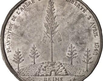 france medal ville de reims plantation de l'arbre de la liberté history