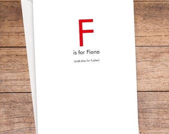 F is For... Card
