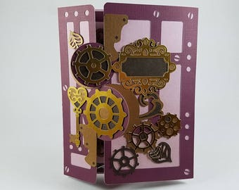 Steampunk Valentine's Card with Beautiful Details