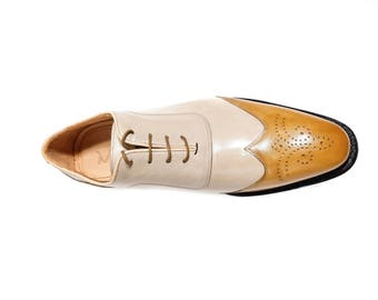 Ando - Two-tone Handmade Oxford Shoes
