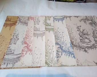 Bundle of 7 vintage Japanese style craft Sheets. Multicolour selection.  Perfect for paper craft, scrap booking and card making