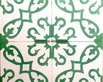 Bess green cement tiles