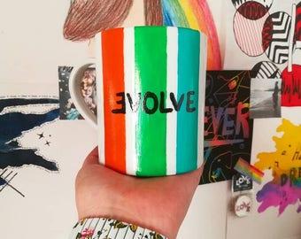 Mug Believer - Imagine Dragons - Evolve - handmade painted