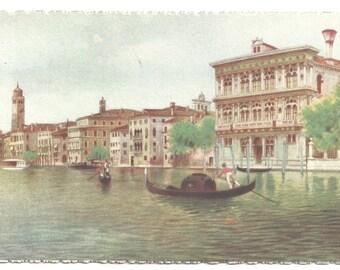 Artist A. Scrocchi / Venice Italy - Gondola - Grand Canal -  Vintage Postcard