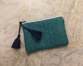 The Mini Clutch - Zippered Clutch with Tassels