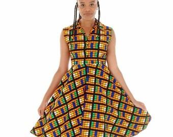 Tokunbo Flared Sleeveless Dress