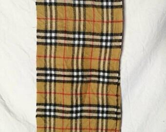 Vintage Burberrys Scarf Vintage 100% Cashmere Nova Check Made in England
