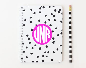 Personalized Circle Monogram Notebook
