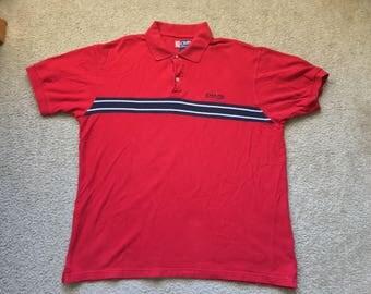 Men's Vintage 90s Chaps Ralph Lauren Red Polo Shirt Size Xl