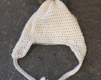 Extended ear flap hat - crochet