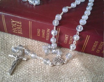 Smokey crystal rosary