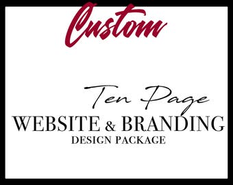 Website & Branding Design Package, Logo package design, branding kit, website design