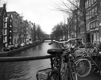 Amsterdam Canal Canvas Photo
