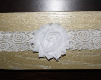 White lace and bow headband