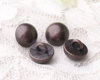 buttons mushroom buttons 10pcs  9*8mm copper buttons shank buttons smooth buttons metal zinc alloy buttons