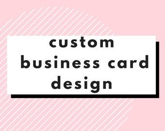 Custom Business Card Design // Business Card Design