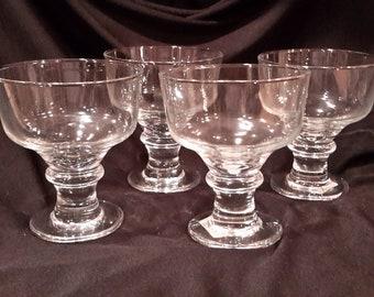 4 Libbey stemmed glasses for beverages, fruit or sherbet