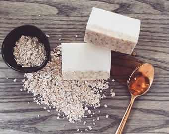 All-Natural Honey and Oatmeal Soaps