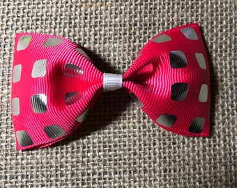 Pink hair bow , beautiful , girl , party, babyangelwithlove