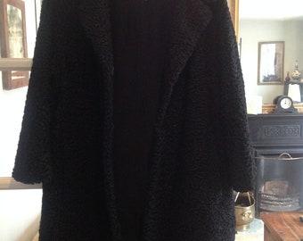 Astrakhan coat, original 1950s, excellent condition, large