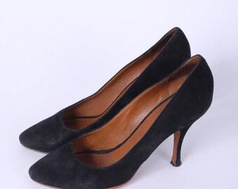 Celine Womens 38.5 Shoes Elegant Pumps Heels Classic Italy