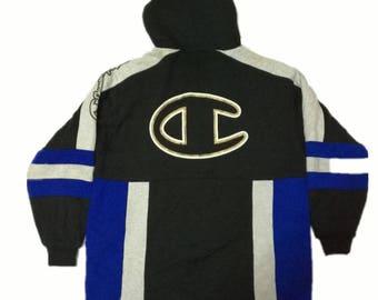 Vintage CHAMPION sweatshirt big logo/ spell out/ hypebeast