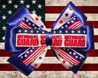 National Guard American Military Hair Bow