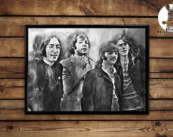 The Beatles print wall art home decor poster