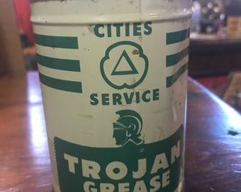 Cities  Service Grease Can