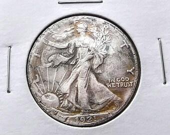 1921-D Walking Liberty Silver Half Dollar Coin