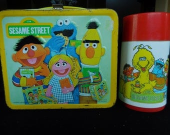 Vintage Sesame Street Lunch Box and Thermos/Aladdin 1979