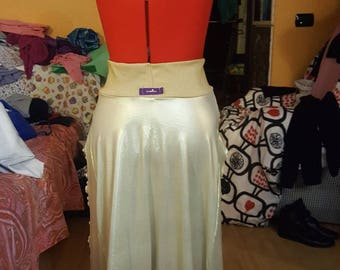 Scenographic skirt from golden dance in lycra TG. S/M