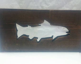 Fish Wood Decor, Trout, Handmade