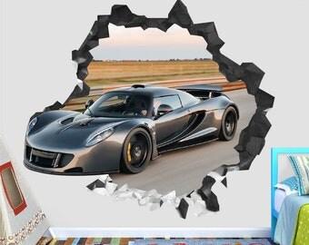 Car Hennessey Venom GT Wall Decal Sticker   Car Sport Wall Decor   Art  Vinyl Wall