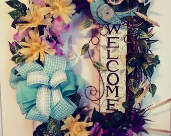 Custom made Welcome Wreath
