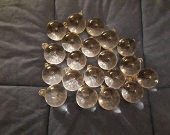 Pendants Vintage chandelier Glass balls full years 60