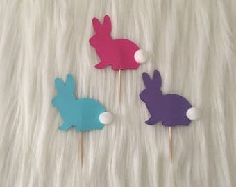 Easter Bunny • Cupcake Toppers • Set of 12