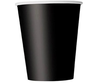 8 x 9oz Paper Cups - Midnight Black