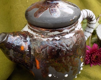 Tea-set handmade. Raku Ceramics.