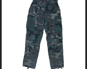 Tru-Spec Camo Army Cargo Pants With Adjustable Waist