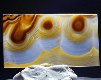 Great patern polished agate